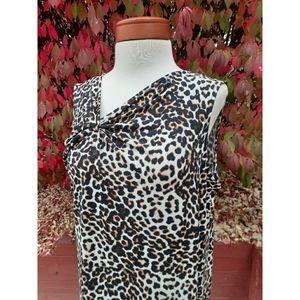 Chico's Slimming Leopard Animal Print Dress